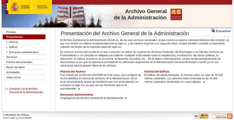 Archivo General de la Administración Pública